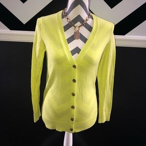 GAP Chartreuse Neon Yellow/Green Cardigan Sweater